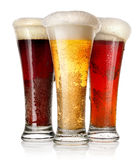 Tall glasses of beer Royalty Free Stock Photography