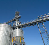 Tall Grain elevators Royalty Free Stock Images