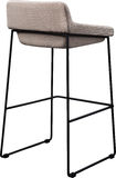 Tall gray bar stool isolated on white. Modern designer Bar chair. Stock Photography