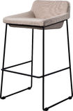 Tall gray bar stool isolated on white. Modern designer Bar chair. Royalty Free Stock Images