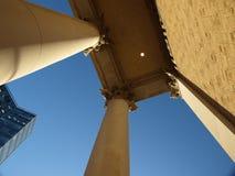 Tall greek columns. A tall greek styled columns Royalty Free Stock Photography