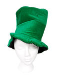 Tall green hat with clipping path Stock Images