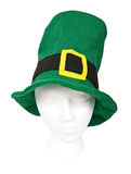 Tall green Irish hat with clipping path Royalty Free Stock Photography