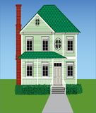 Tall Green Victorian Home Royalty Free Stock Photo