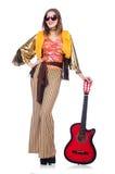 Tall guitar player Stock Image