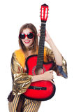 Tall guitar player Royalty Free Stock Photo