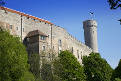 Tall Hermann - a tower of the Toompea Castle on Toompea hill. Tallinn, Estonia Stock Photography