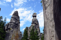Tall high rocks looks like human in national park illustration photography Royalty Free Stock Image