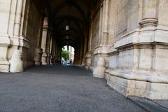 Large alleys or pass thru`s in Vienna Austria royalty free stock photos