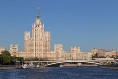 The tall house in Moscow, Russia Royalty Free Stock Photo