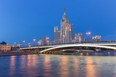 The tall house in Moscow, Russia stock photography