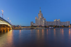 The tall house in Moscow, Russia Stock Images