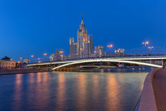 The tall house in Moscow, Russia Royalty Free Stock Photos