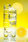 Tall iced drink with lemon royalty free stock image