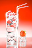 Tall iced drink strawberry Royalty Free Stock Photos
