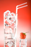 Tall iced drink strawberry Stock Images