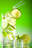 Tall iced mojito Royalty Free Stock Photos
