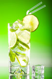 Tall iced mojito with ice Royalty Free Stock Photos