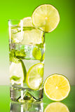 Tall iced mojito with ice Royalty Free Stock Photo