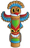 Tall Indian totem. Illustration Royalty Free Stock Photo