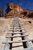 Tall Ladder up to Cliff Dwelling Royalty Free Stock Photo
