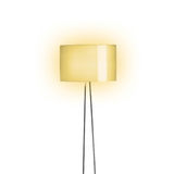 Tall Lamp with Orange shade Stock Photo
