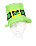 Tall light green shamrock hat with clipping path Royalty Free Stock Photography