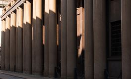 Light pink colonnade stock image