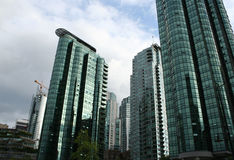 Tall luxury residential buildings Royalty Free Stock Photography