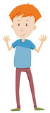 Tall man having arms up Royalty Free Stock Image
