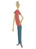 Tall Man Illustration Royalty Free Stock Photos