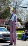 Really tall man waving Stock Images