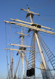 Tall Masts. Tall Ships in harbour stock photos