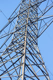 Tall Metal Hydro Tower With a Blue Sky Stock Image