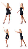 The tall model  on the white background Royalty Free Stock Photos