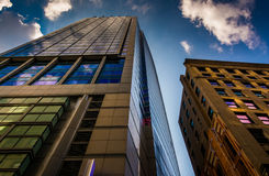 Tall, modern buildings in Boston, Massachusetts. Royalty Free Stock Image