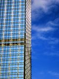Tall modern office buildings glass exterior. Against blue sky in hongkong china Stock Photo