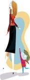 Tall mom vector illustration