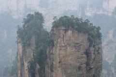 Tall mountain peaks of yuanjiajie Royalty Free Stock Photography