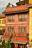 Tall and narrow buildings in Boudhanath, Nepal before the earthq Stock Photography