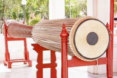 Tall narrow drum 5.32 meters in the marble temple or Wat Benchamabophit Dusitvanaram in Bangkok,Thailand Stock Photos