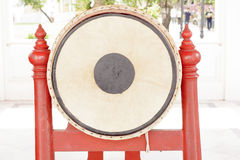 Tall narrow drum 5.32 meters in the marble temple or Wat Benchamabophit Dusitvanaram in Bangkok,Thailand Royalty Free Stock Photography