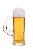 Tall narrow glass of beer. Stock Photos