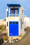 Tall and narrow house in typical Canarian village Royalty Free Stock Images