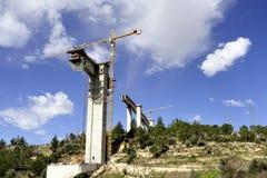 Tall new bridge bearing. Royalty Free Stock Photography