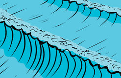 Tall ocean waves background Stock Image