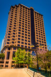 Tall office building in downtown Richmond, Virginia. Royalty Free Stock Photos
