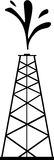 Petrol Tower. Tall petrol tower spills crude oil into the air as an indication of new founded oil Royalty Free Stock Photography