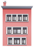A tall pink building Stock Photo