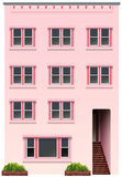 A tall pink building Stock Images